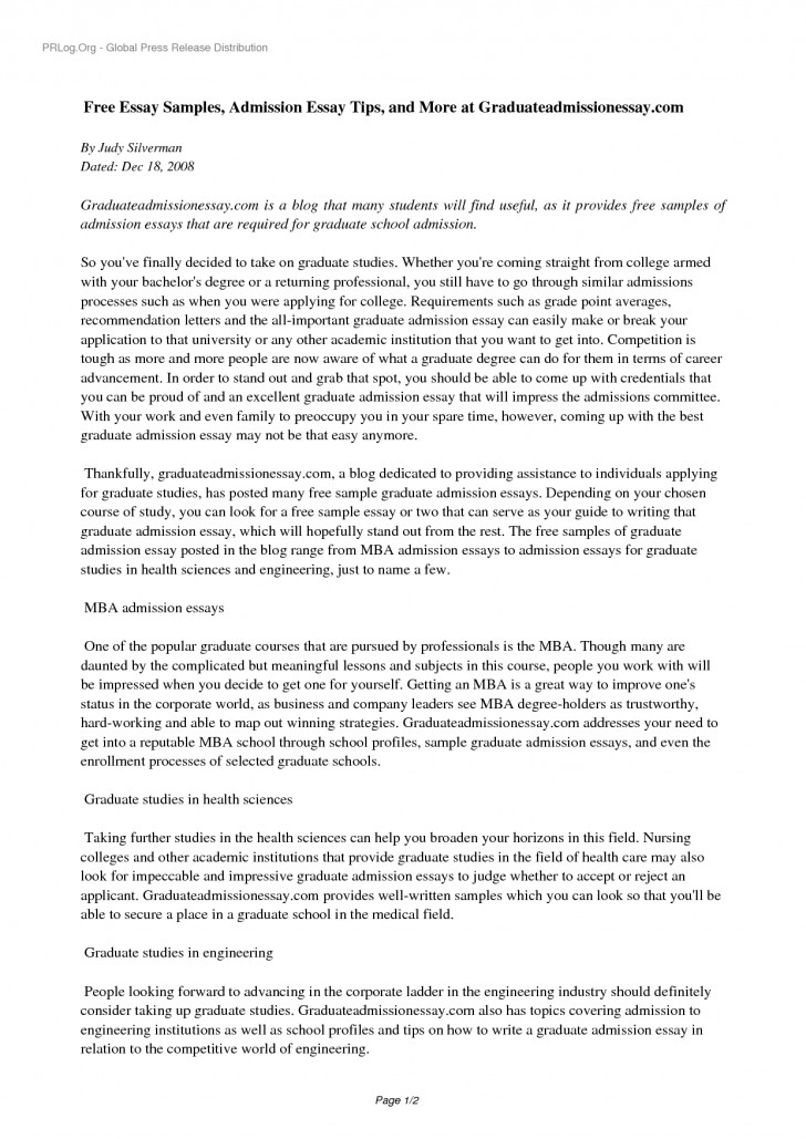 005 High School Application Essay Examples Example Sample Essays For