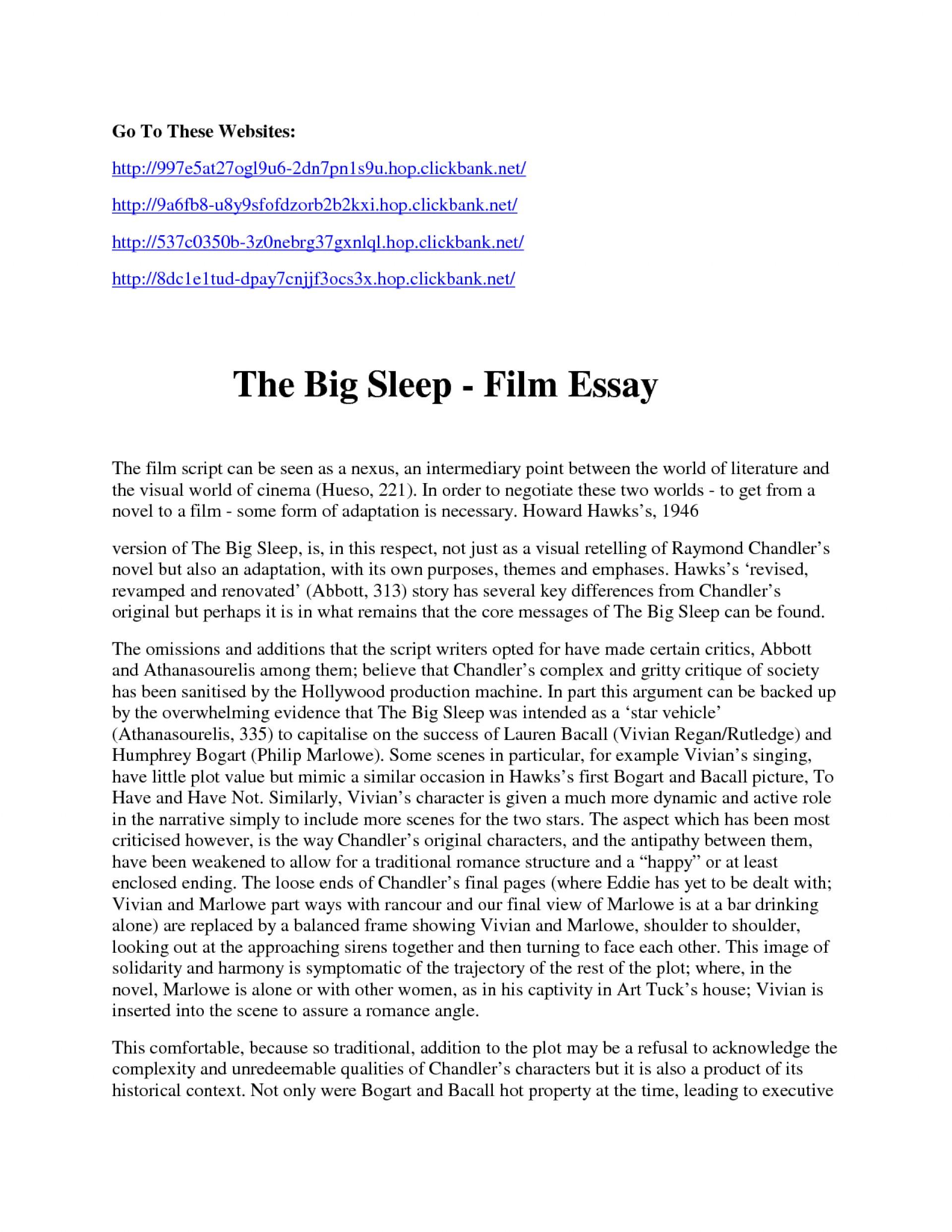film evaluation essay example