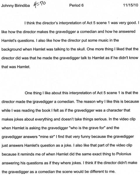 003 Hamlet Revenge Essay Example ~ Thatsnotus