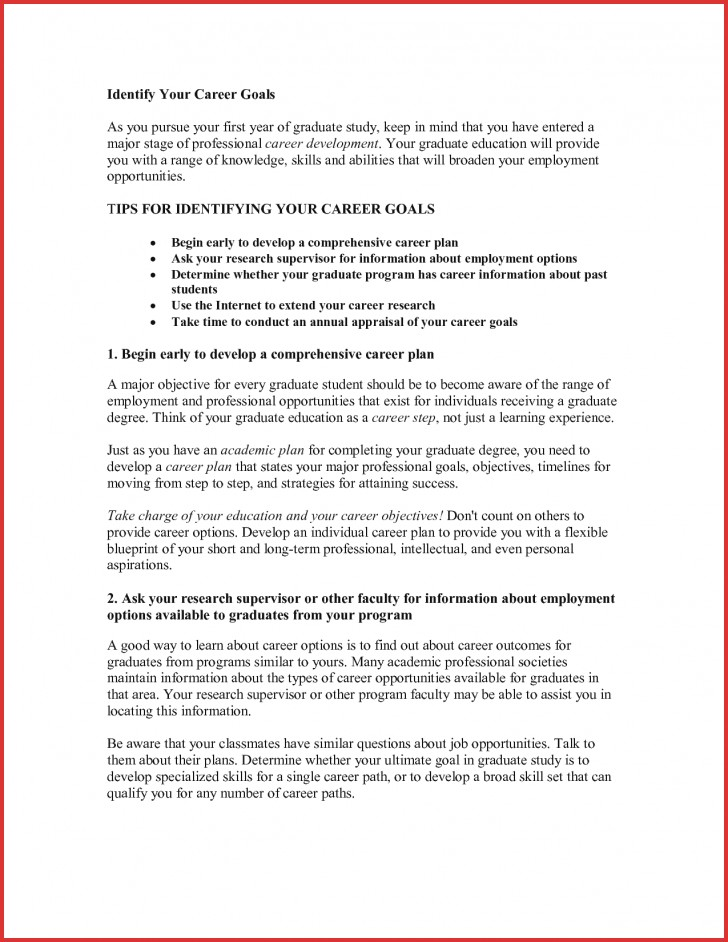 003 What Are Your Career Goals Essay Example Goal Examples Unique