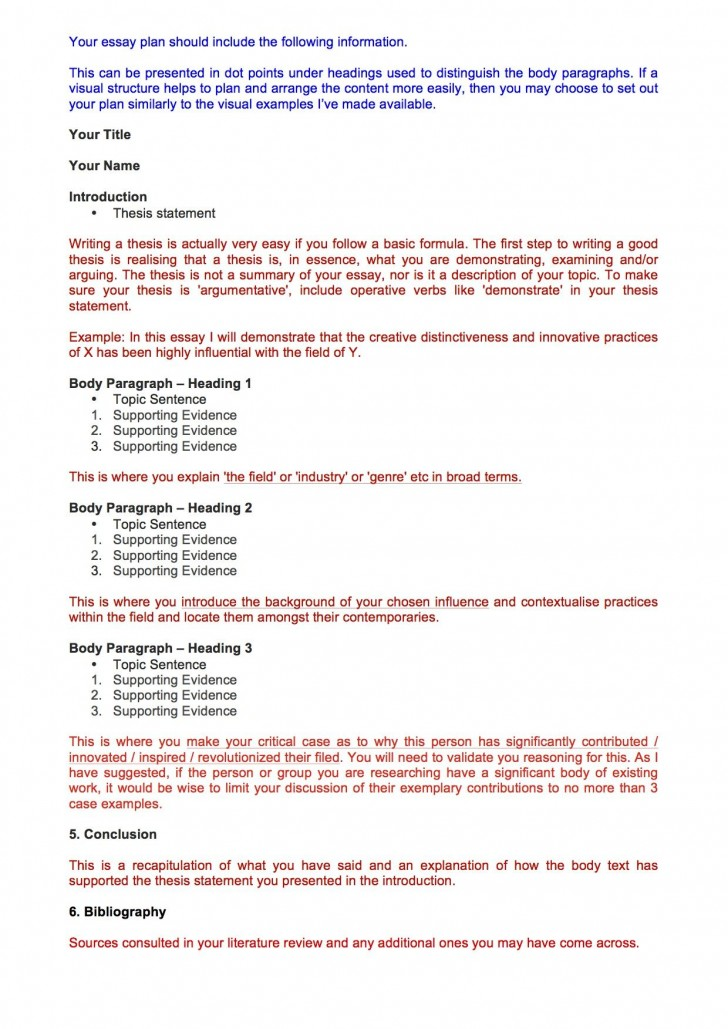 003 Essay Plan ~ Thatsnotus