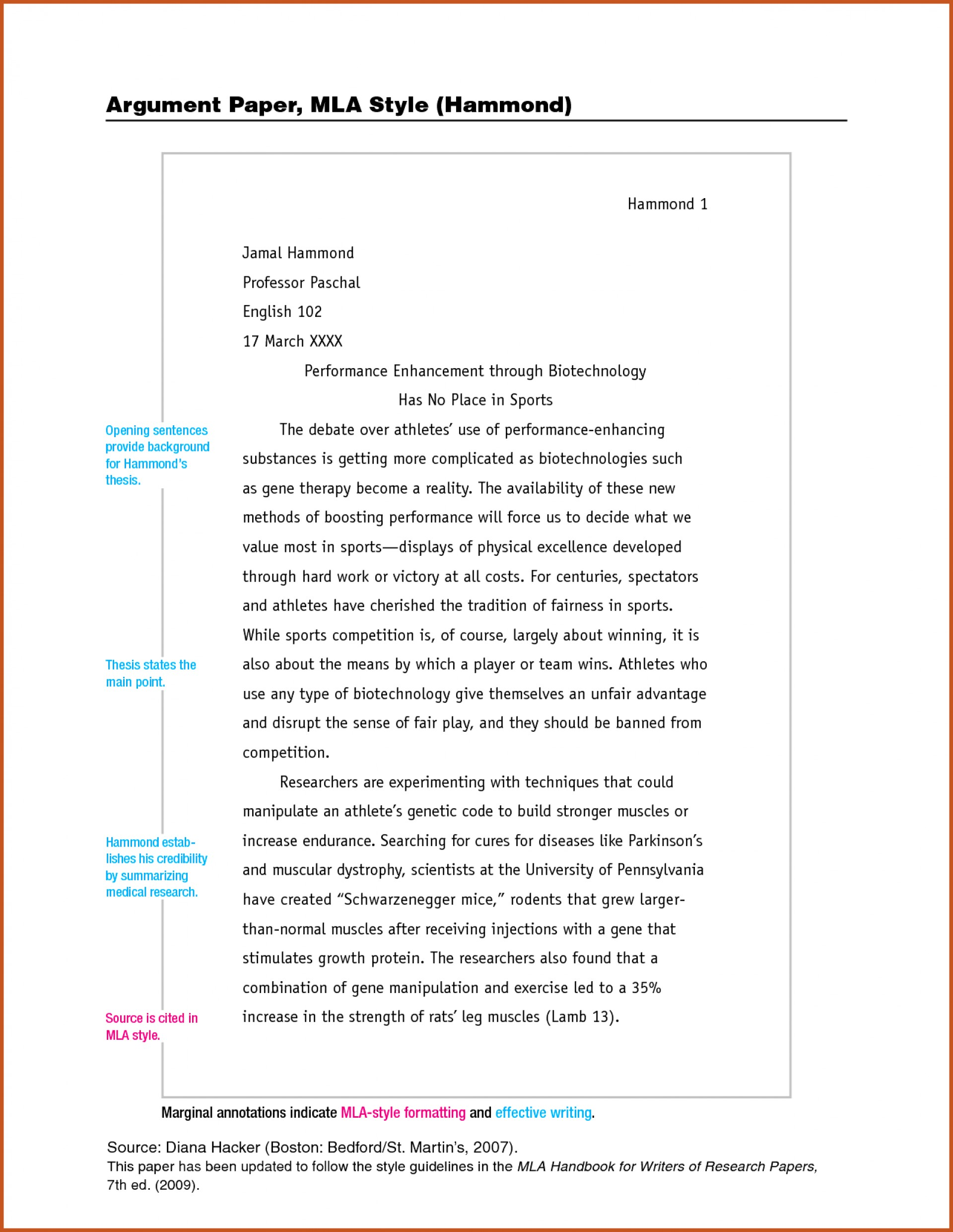 essay title page example