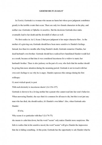 005 Profile Essays Examples Character Analysis Sample Essay Formal