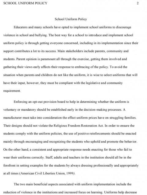 006 School Uniforms Argumentative Essay Sample Essaysmast Topics On