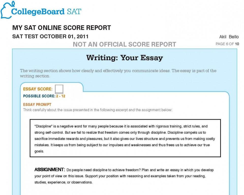 007 Sat Essay Test Writing Promptss Score Range Time Limit Format