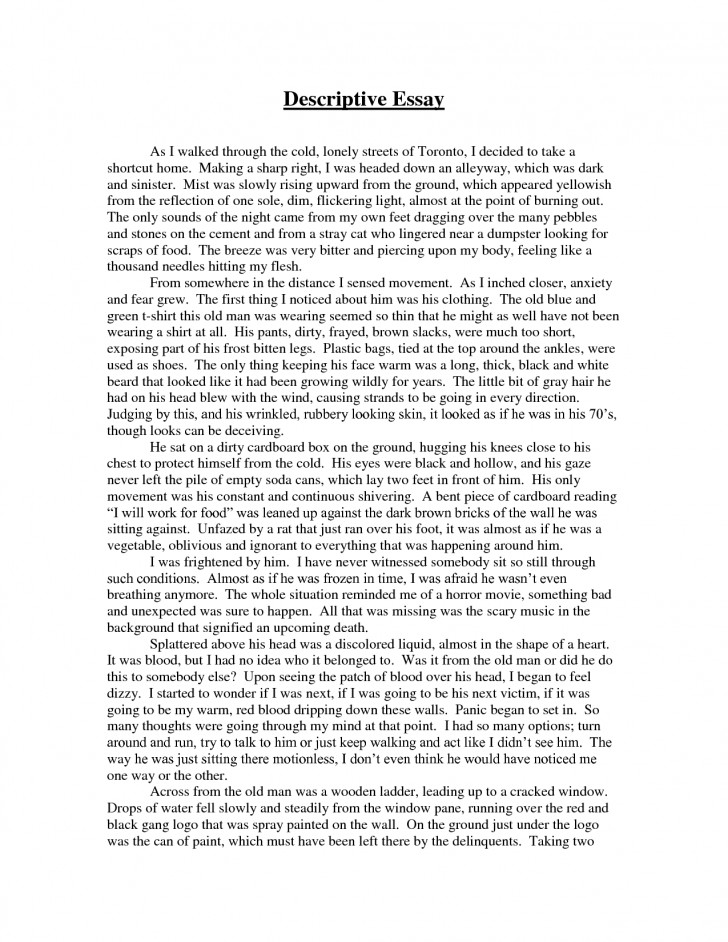 008 Essay Example What Is Descriptive Discriptive Cover Letter For