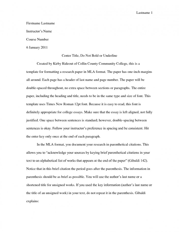 005 Mla Format College Essay Collection Of Solutions Applications