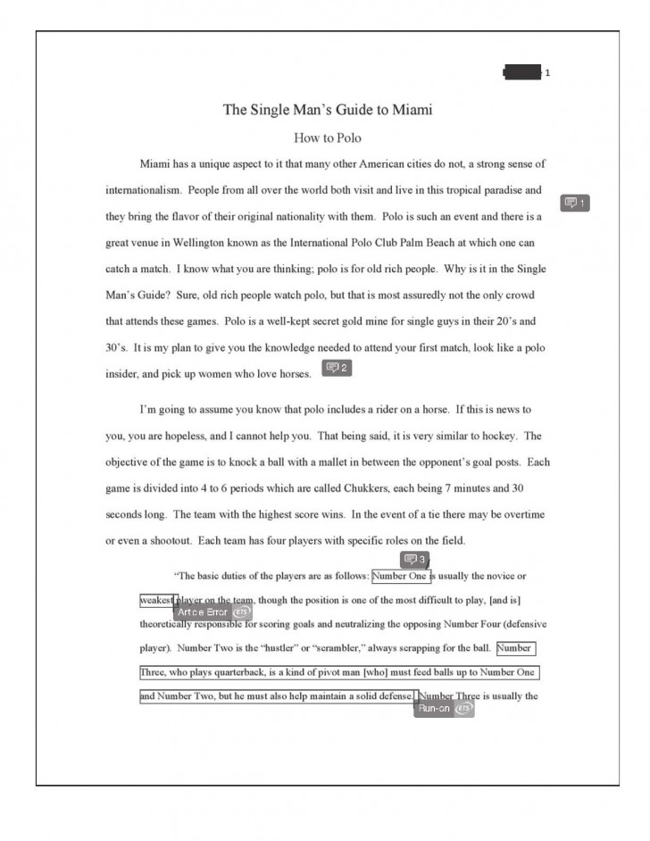 009 Informative Essay Final How To Polo Redacted Page 2 Example