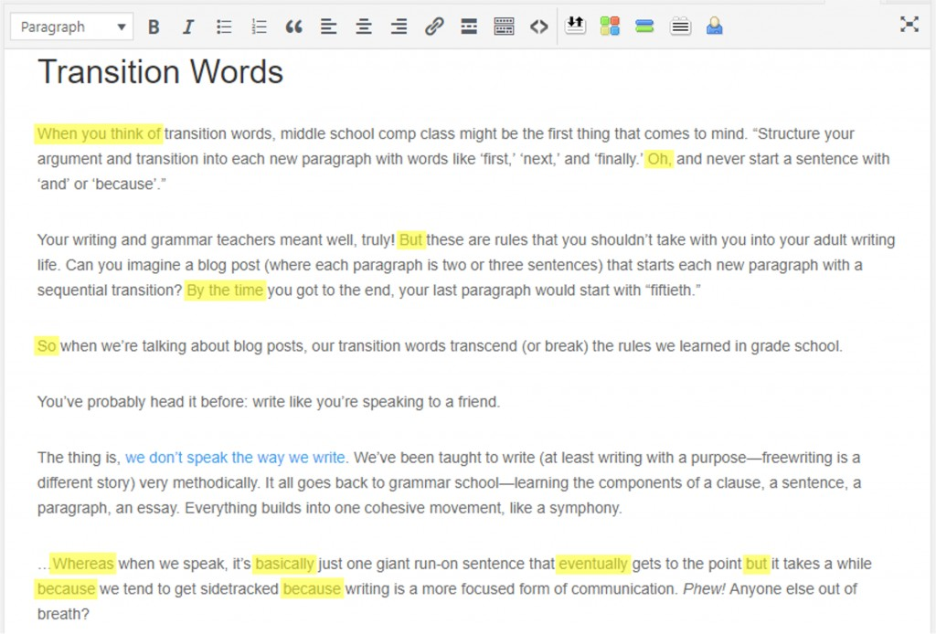 004 Transition Words To End Any Good For Start Paragraph In