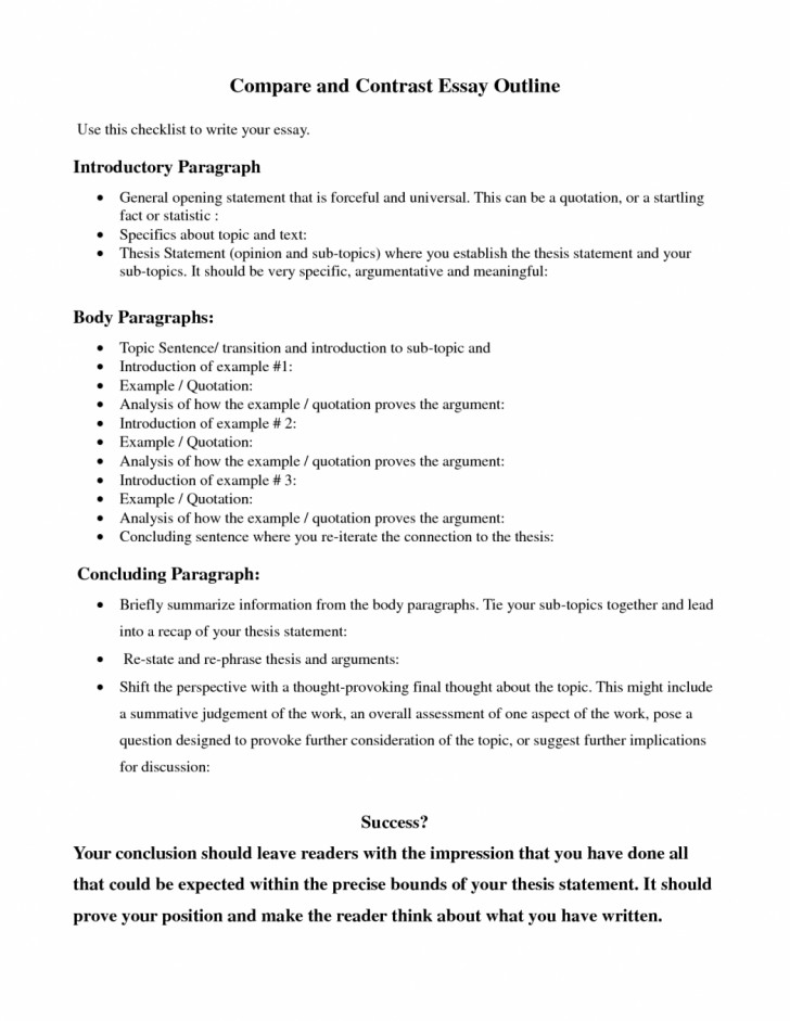 015 Essay Example Comparison Essays About Success Writing How To