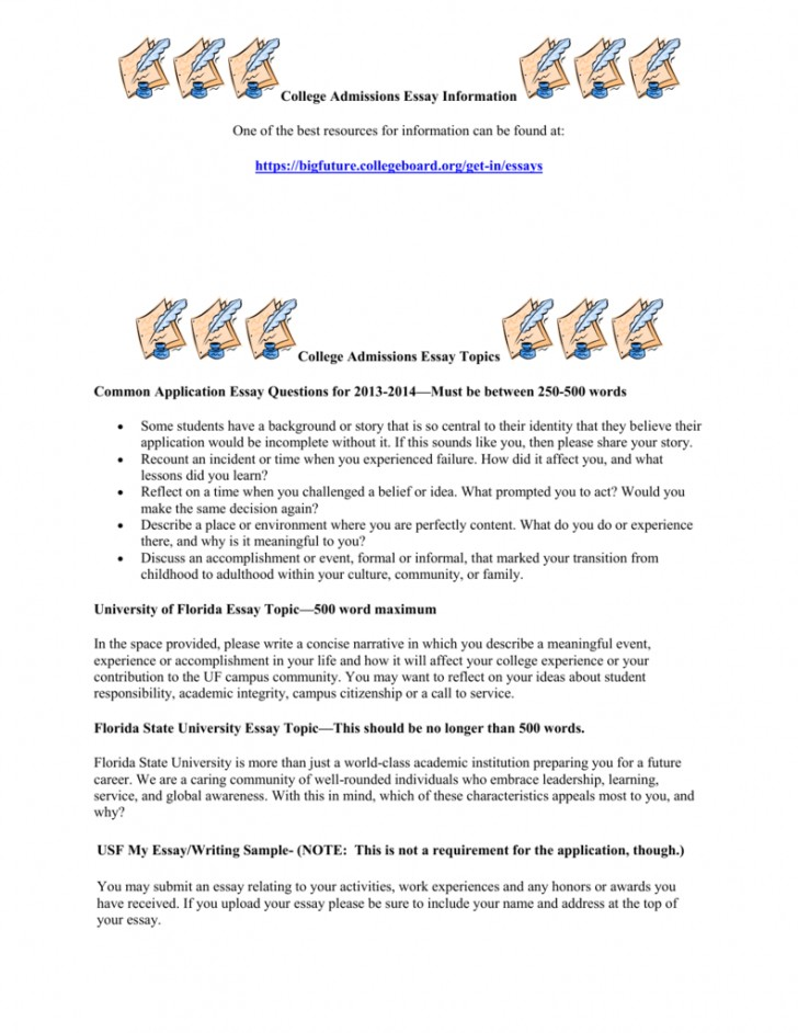 004 College Admission Essay Topics Application Questions