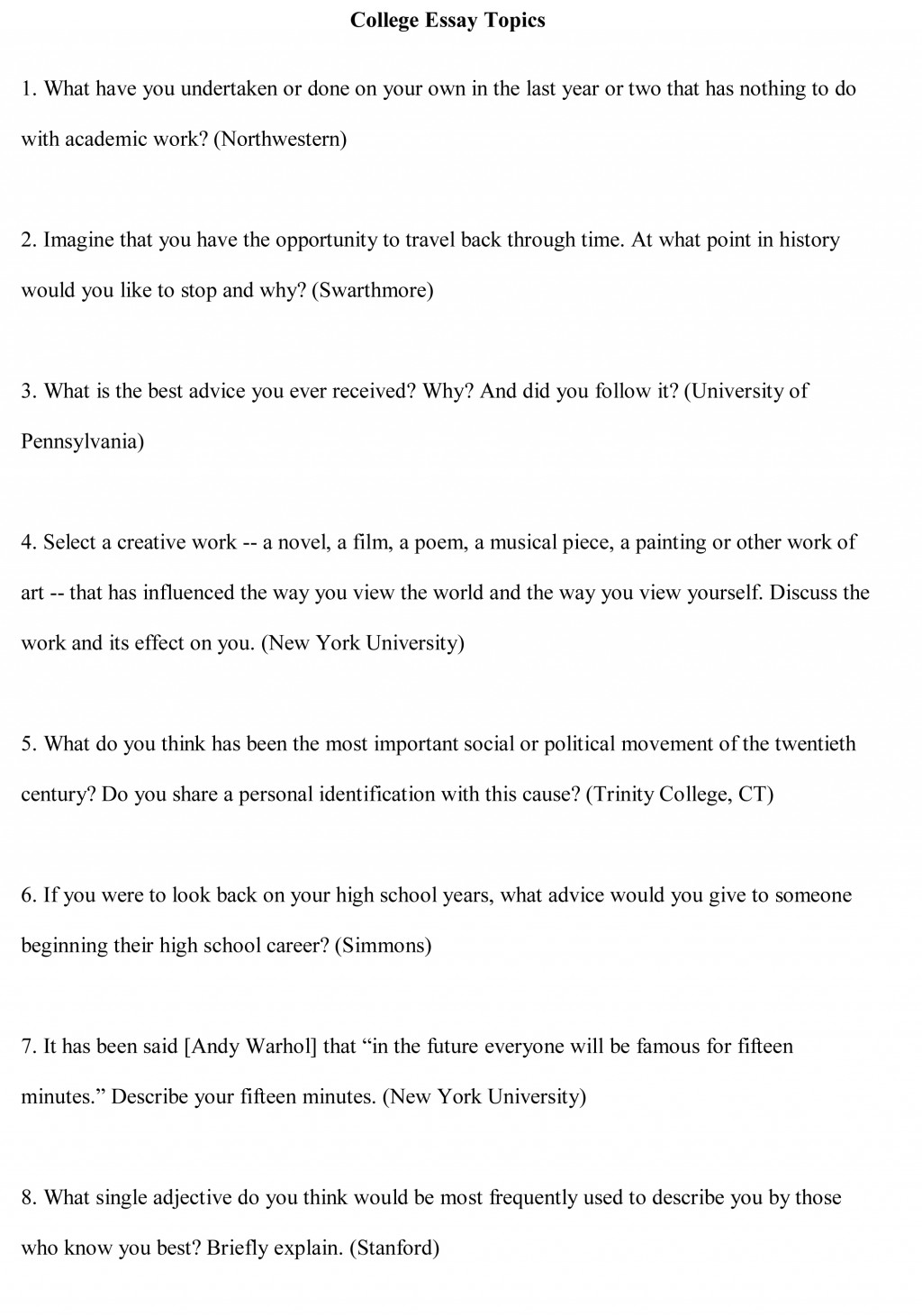 example of a college persuasive essay