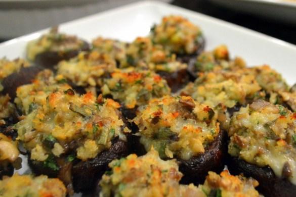 Garlic Gruyere stuffed mushroom