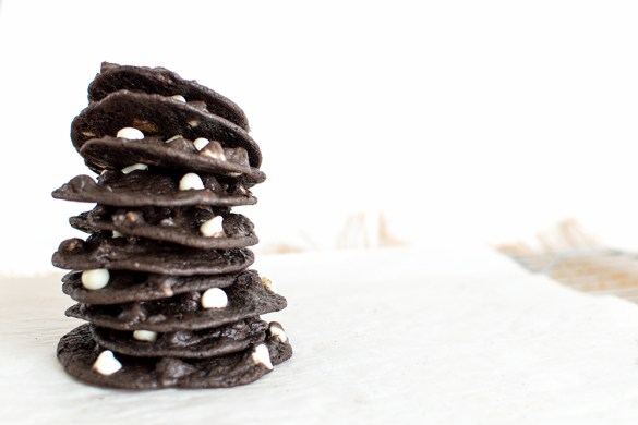 Super chewy, soft chocolatey cookies with assorted chips. I add a secret ingredient to keep these chewy for days (if they last that long!)