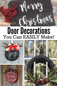 Easy to Make Christmas Door Decorations  That Sweet Tea Life