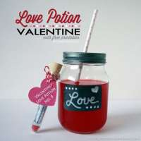Love Potion Valentine Idea - Free Printable