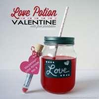 Love Potion Valentine Idea - Free Printable