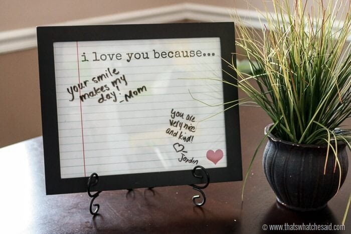 Love Notes Frame + Free Printable - That\u0027s What {Che} Said