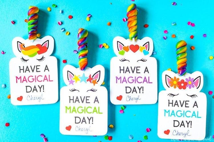 Unicorn Printable Valentine Cards - That\u0027s What {Che} Said