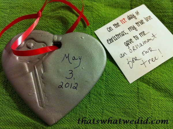 DIY ornament - First house key -  Clay ornament
