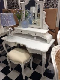 FRENCH PROVINCIAL LOUIS XV CHAIRS ARM BEDROOM DRESSING ...