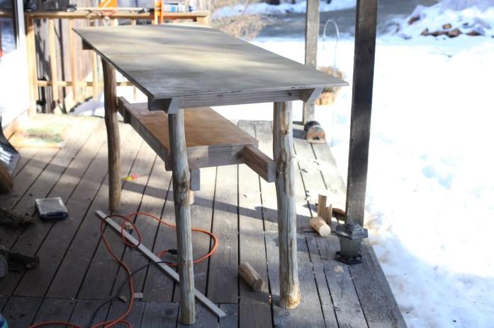 rustic standing desk