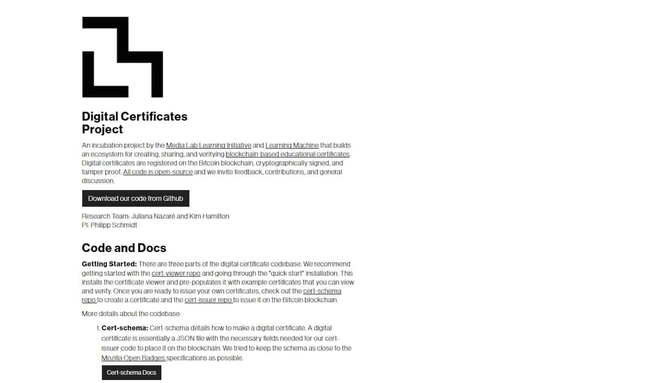 Mit Media Lab Publishes Paper On Blockchain Digital Certificates