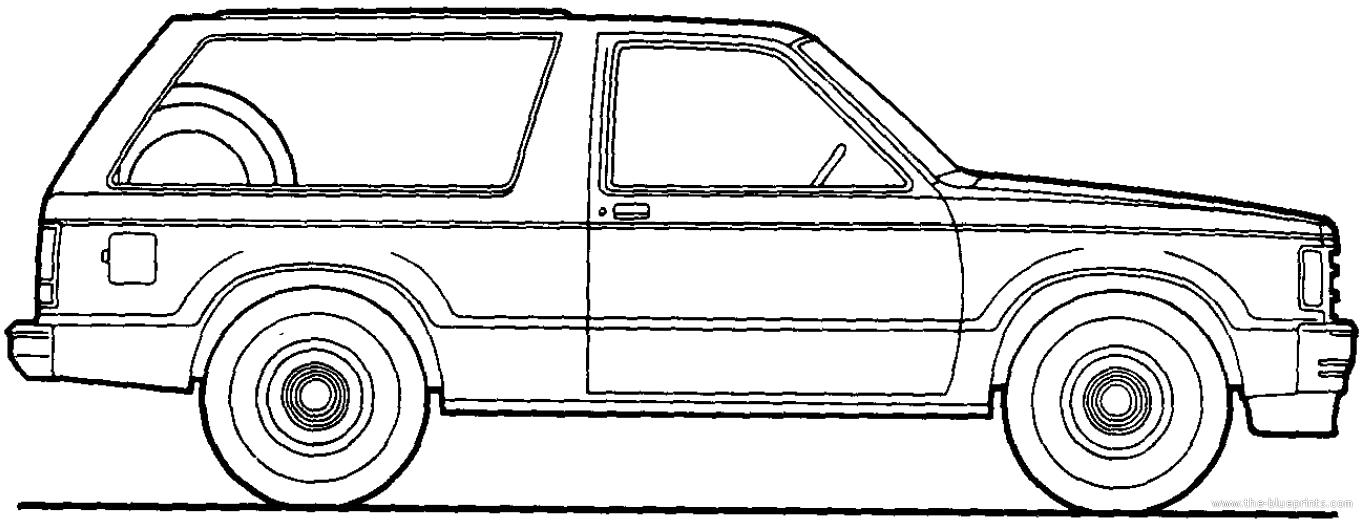 1989 chevy s10 blazer Schaltplang