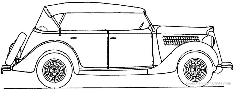 1935 ford convertible sedan