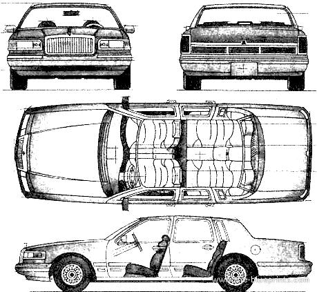 lincon town car wiring diagram
