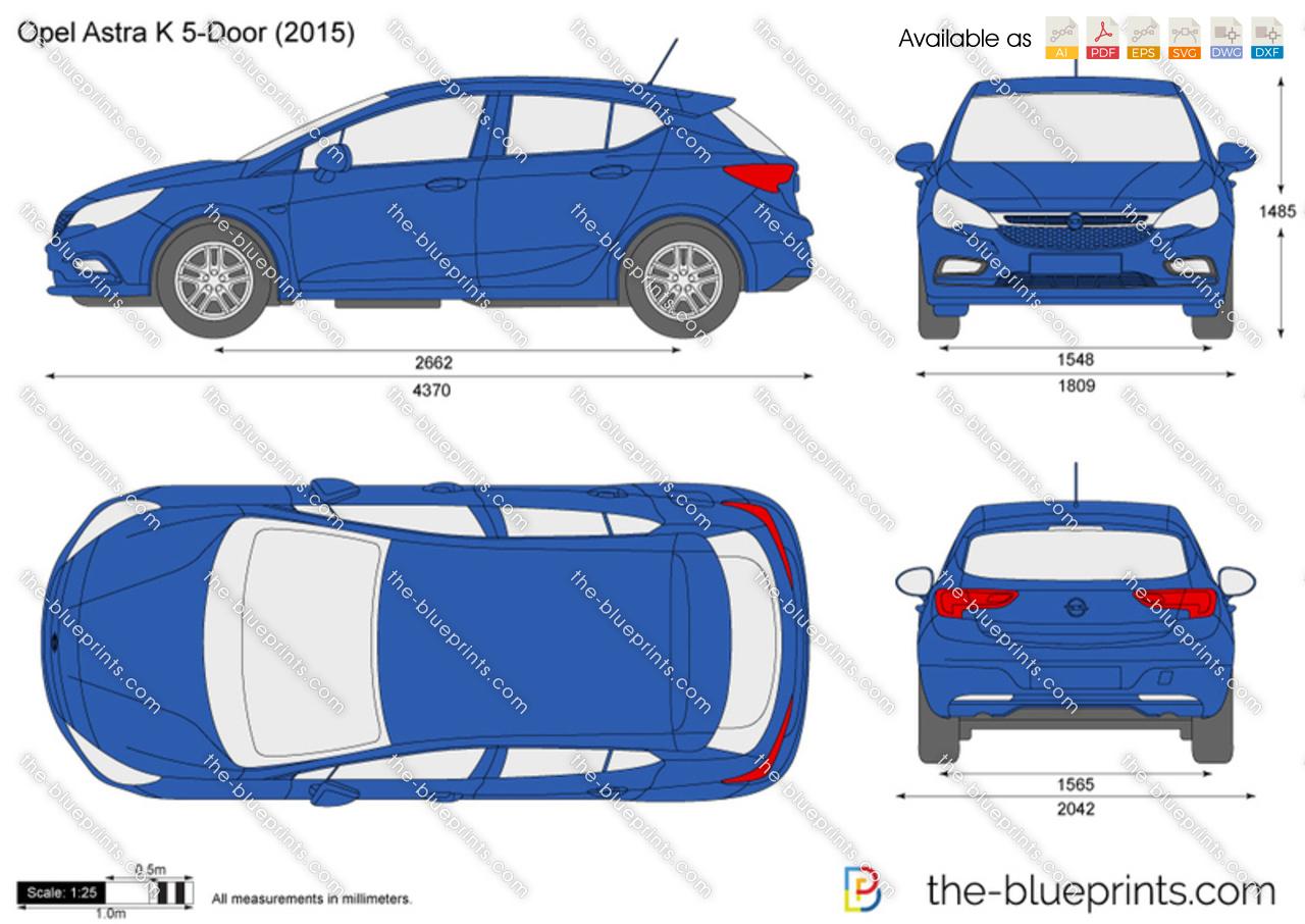 Opel astra k 5 door