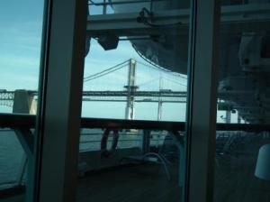 Francis Scott Key Bridge as viewed from the Grandeur of The Seas as it sails from Baltimore. THE CHESAPEAKE TODAY photo