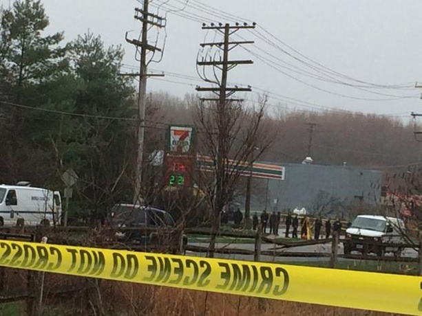 Shooting at 7 Eleven of Anne Arundel Officer. Photo courtesy of WBAL