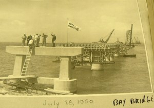 Chesapeake Bay Bridge construction on July 23 1950 Md. DOT photo by Timothy Hyman