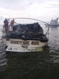 Burned hulk of Goodtime Girl -  she was hot. Photos courtesy of Susquehanna Hose Co.