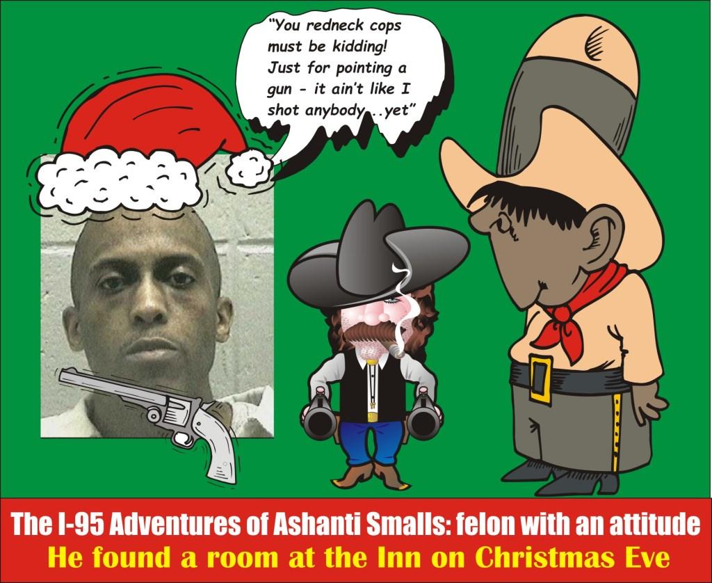Ashanti Smalls felon pointing gun in road rage on I 95 on Christmas Eve MSP