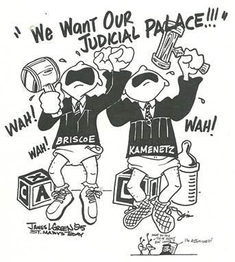 Judicial Palace crybaby judges