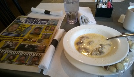Oyster stew at Chincoteaque Island. THE CHESAPEAKE TODAY photo