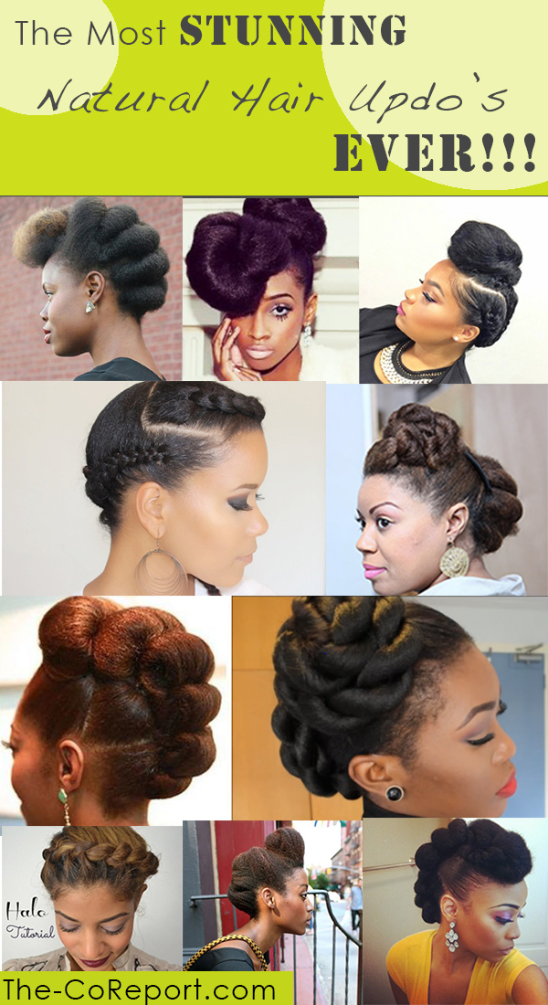 25 Stunning Natural Hair Updo Styles The Co Reportthe Co