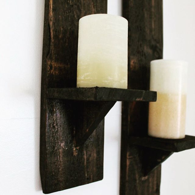 Make your own candle wall sconces from pallet wood pallethellip