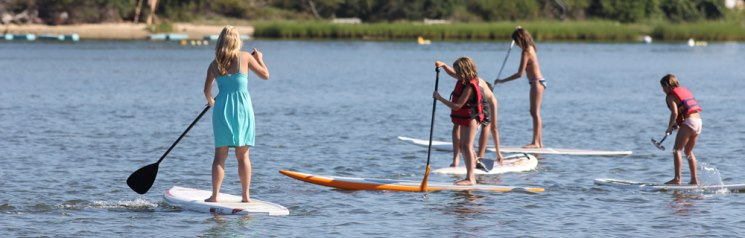 paddleboarding