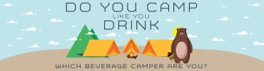 camping and drinking