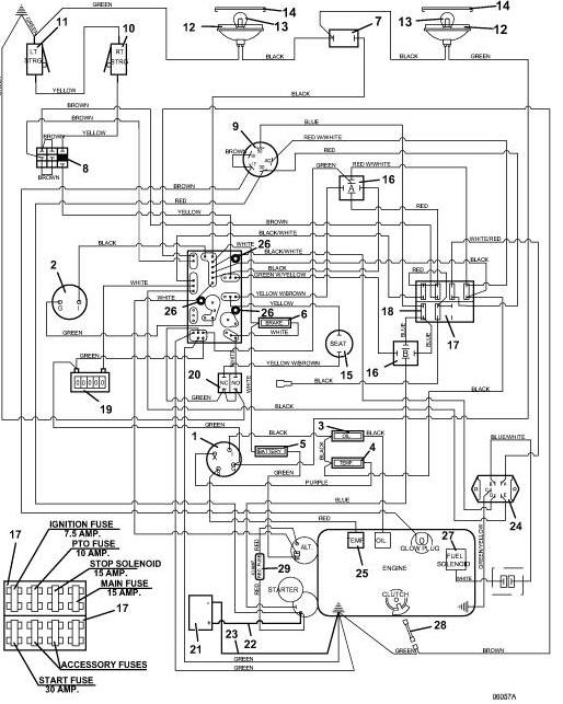 722D2 Grasshopper Mower - Wiring Diagram  Parts List