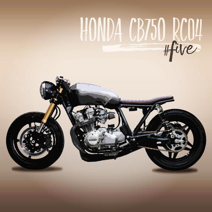 caferacerinspiration Five with some modifications made on my caferacer hondacb750hellip