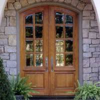 Arched Teak Double French Front Door with Frame | Paul San ...