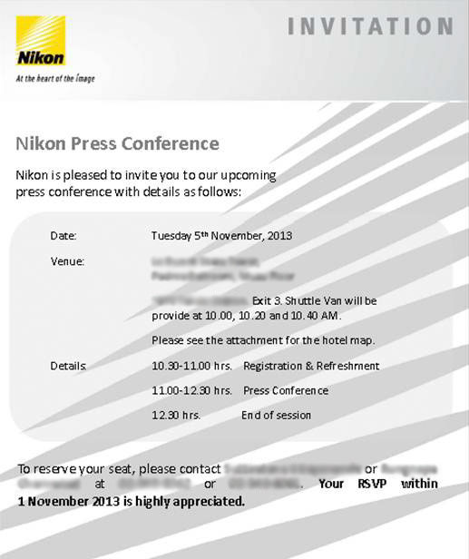 Contemporary Press Conference Announcement Template Ensign - Resume