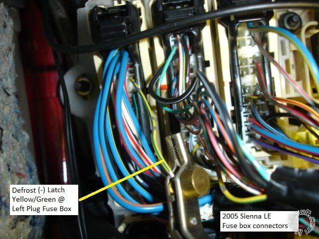 2005 Toyota Sienna Remote Start Pictorial