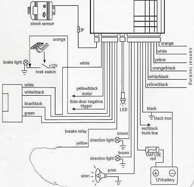 Hero Car Alarm Wiring Diagram Wiring Schematic Diagram