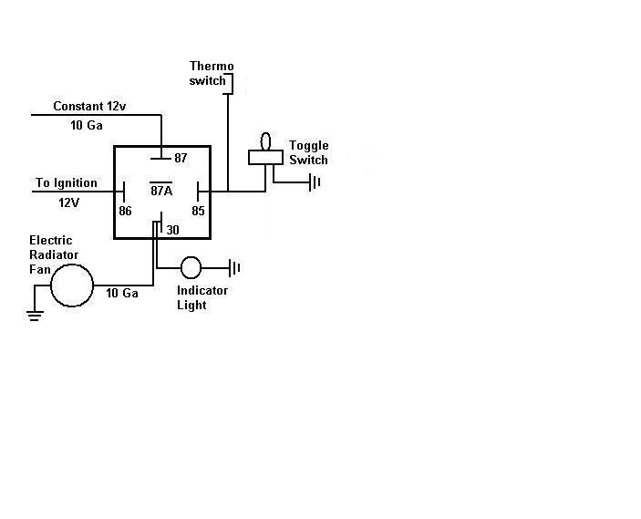 Simple 12 Volt Relay Wiring Diagram For Electric Wiring Schematic