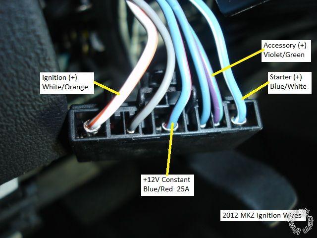 2012 Lincoln MKZ Remote Start Pictorial